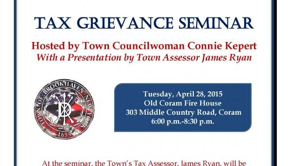 Tax Grievance Seminar 4.28.2015