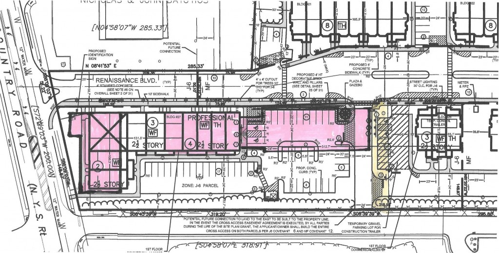 Overlay View of Revised two Buildings