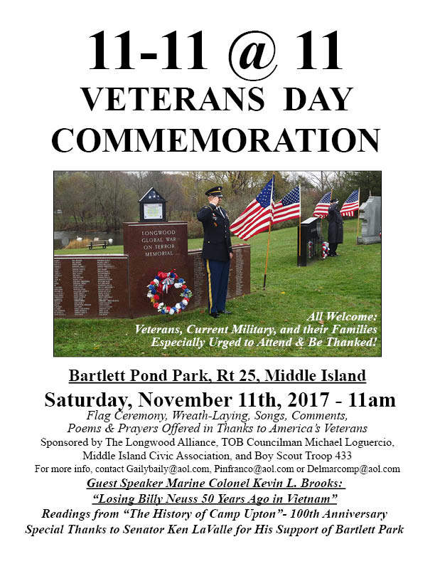 Vets Day 2017 Invite Sign 2