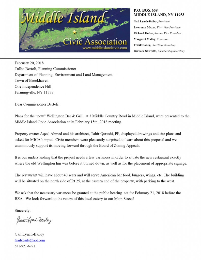 Wellington BZA Support Letter
