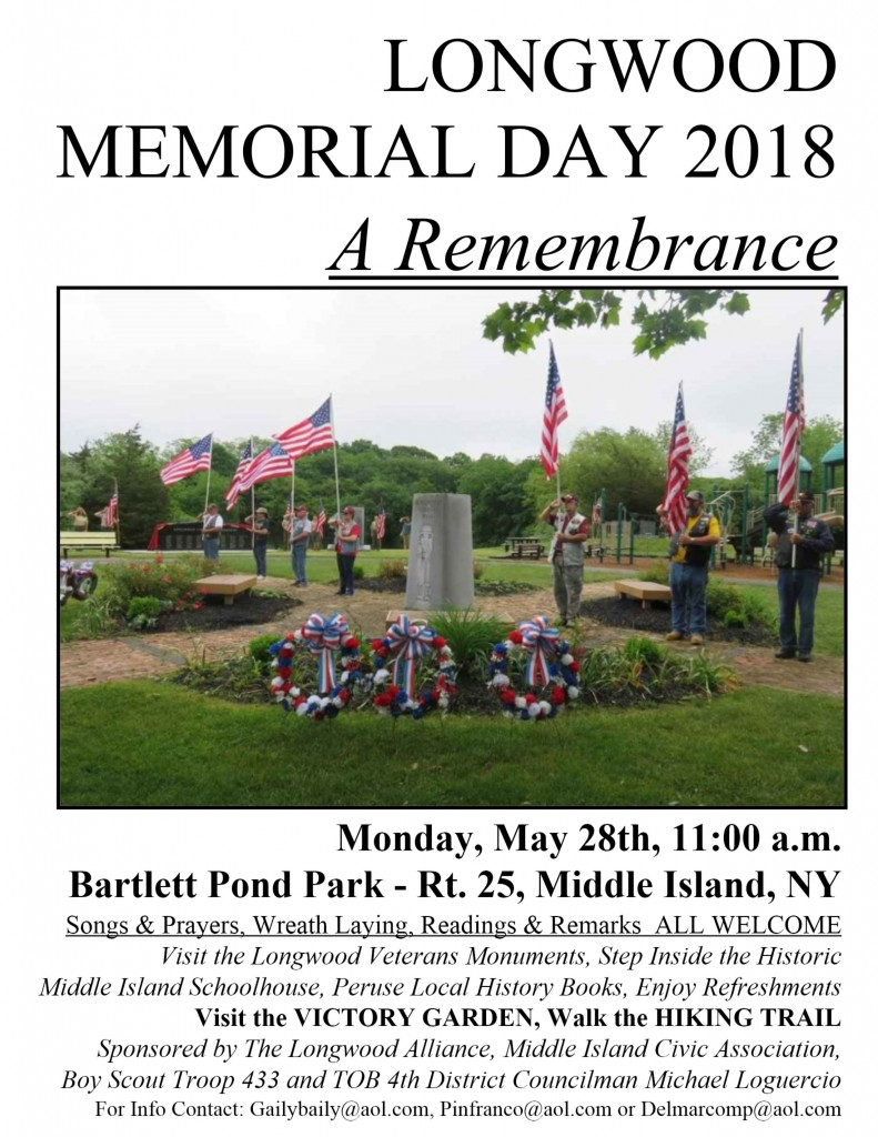 Memorial Day 2018 sign