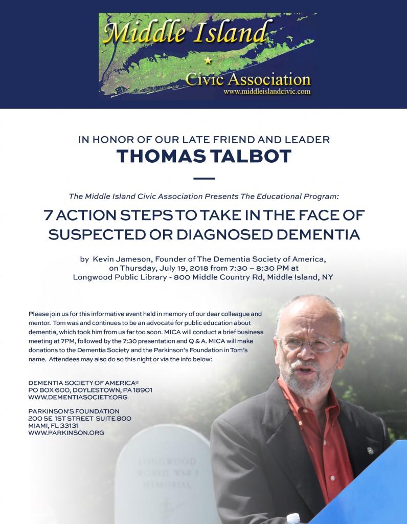 Tom Talbot FLyer