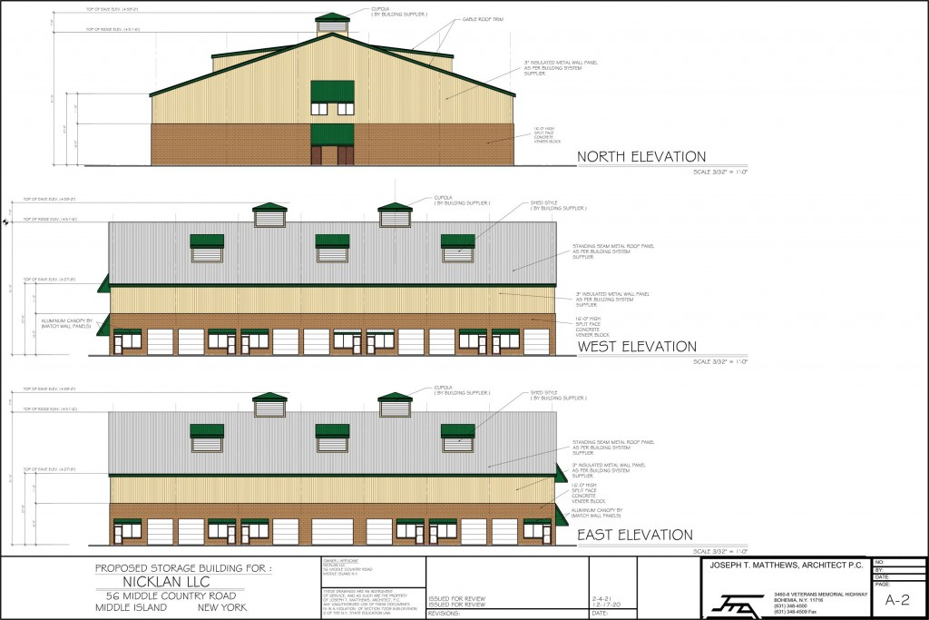 Elevations.Storage Building A-2. 2