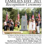 Gold Star Families Day Recognition Ceremony at Bartlett Pond Park on Sunday, 9/26 at 1pm